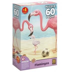 Quebra Cabeça 60 Peças - Flamingos