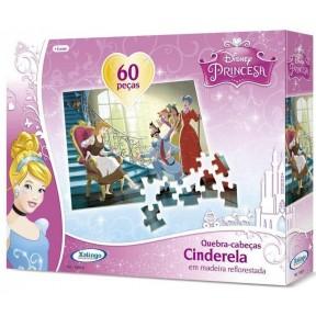Quebra Cabeça 60 Peças Cinderela Disney