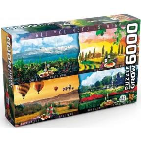 Quebra Cabeça 6000 Peças - Vinhos do Mundo