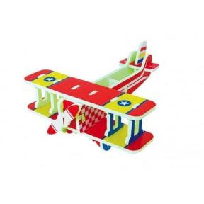 Quebra Cabeça 3D EVA Avião Vintage