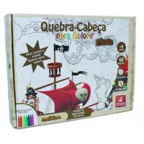 QC Pirata para colorir 48 Peças