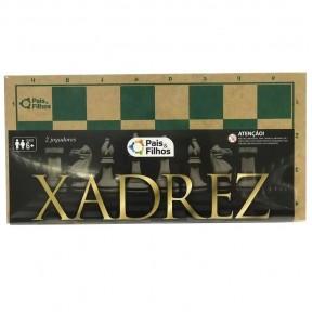 Xadrez Caixa de Madeira 40cm S/Feltro P&F