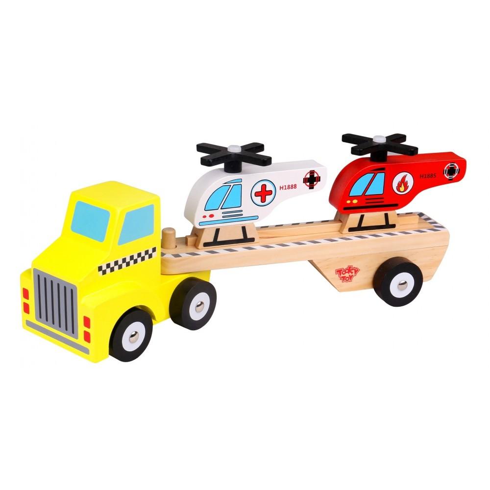 Caminhão com Helicópteros - Tooky Toy