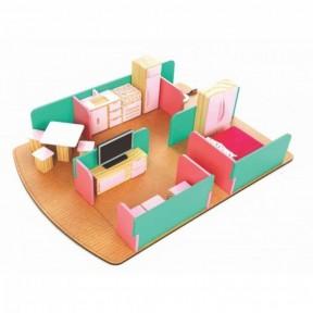 Casa Anis/Rosa com Mobília Rosa