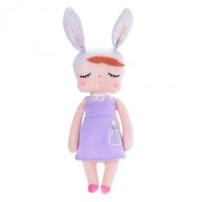 Boneca Metoo Angela Jardineira Bunny Lilás 33cm