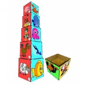 Cubo de Encaixe de Animais - Simque