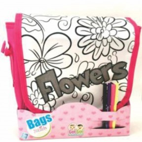 Bolsa Bag Flower com Canetinhas