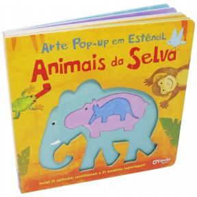 Arte Pop-up Estêncil - Animais da Selva