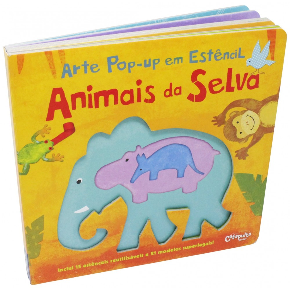 Arte Pop-up Estêncil - Animais da Selva