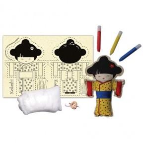 Costurando sua boneca - Kokeshi