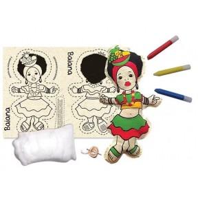 Costurando sua boneca - Baiana