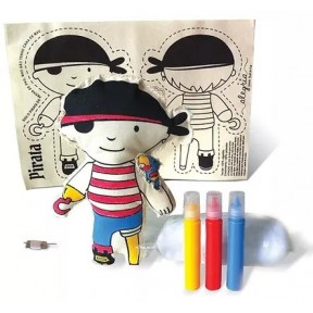 Costurando seu boneco - Pirata