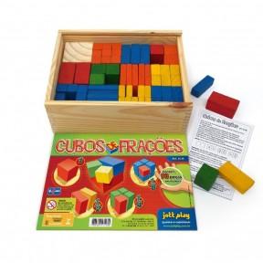 Cubos de frações com 93 peças  Jottplay