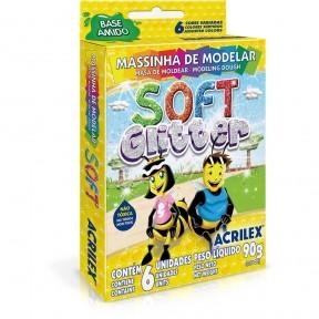 Massinha Soft Glitter 90g
