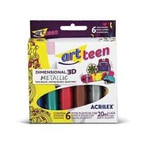 Art teen - Tinta relevo Dimensional 3D Metallic