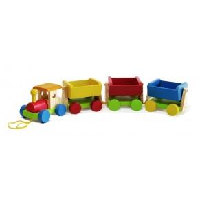 Trem de carga de madeira